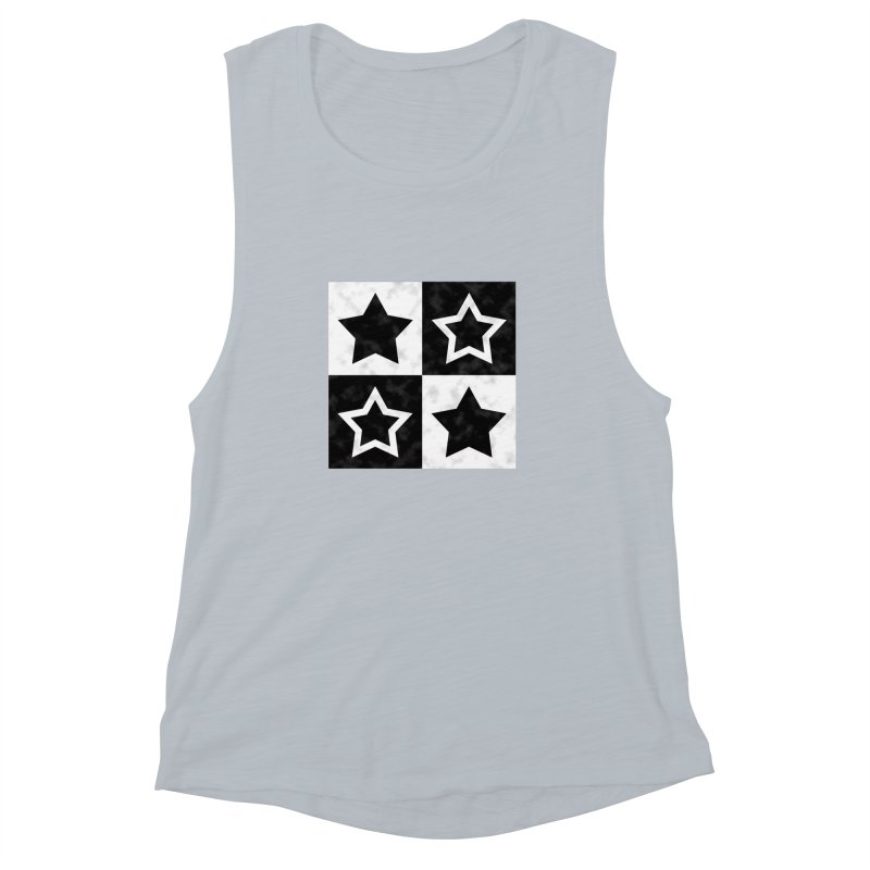 Star Blocks Women's Muscle Tank by Baubly Apparel