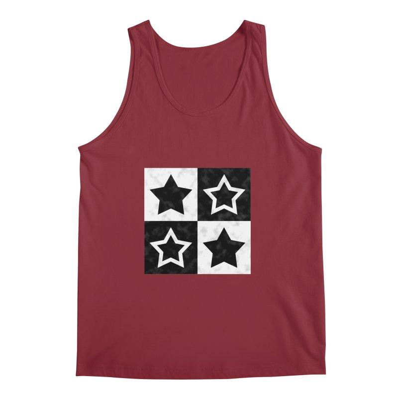 Star Blocks Men's Tank by Baubly Apparel
