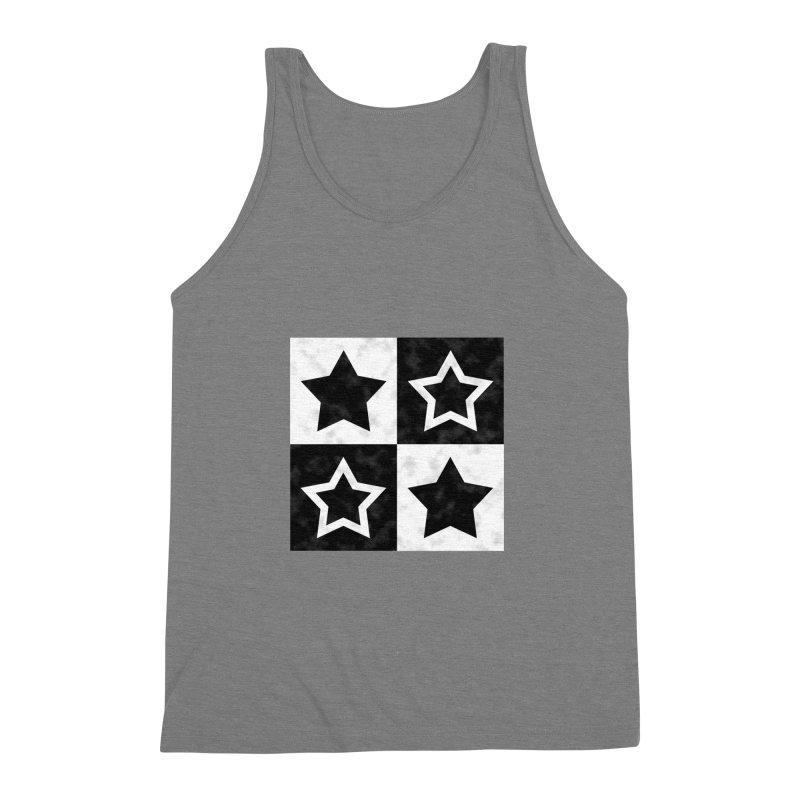 Star Blocks Men's Triblend Tank by Baubly Apparel