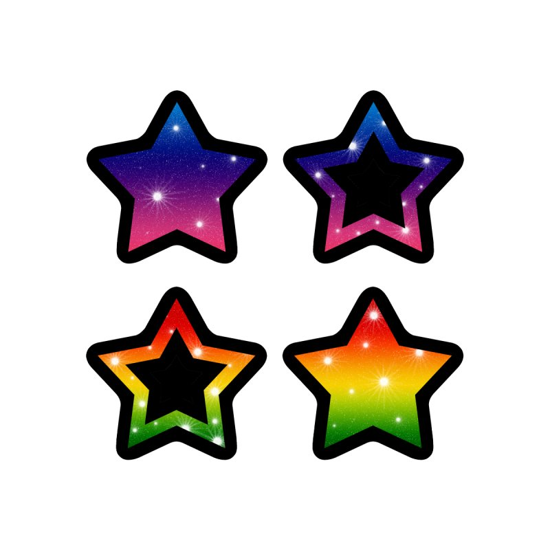 Rainbow Stars by Baubly Apparel