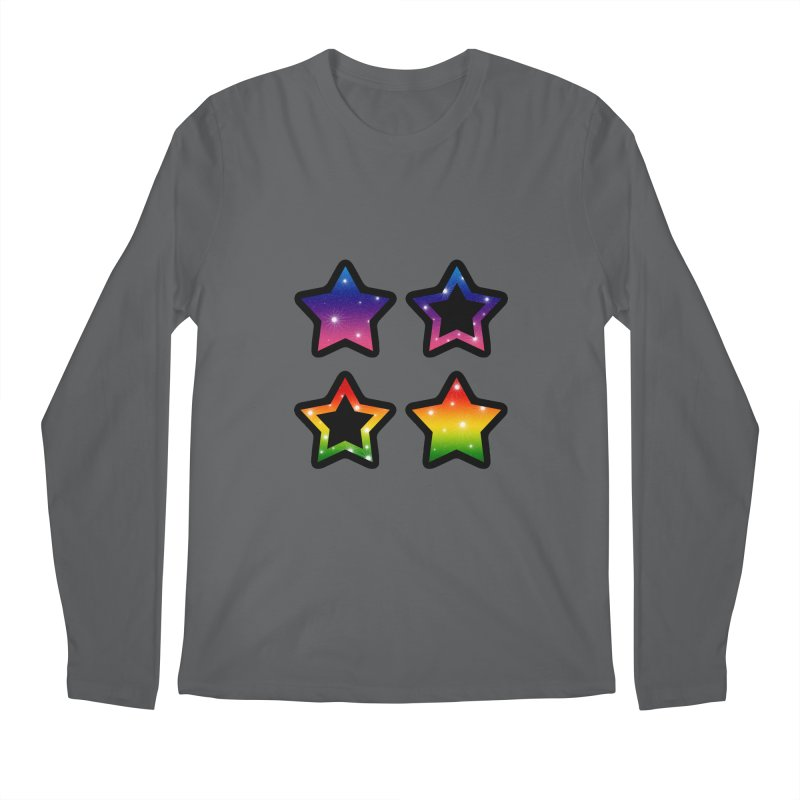 Rainbow Stars Men's Longsleeve T-Shirt by Baubly Apparel
