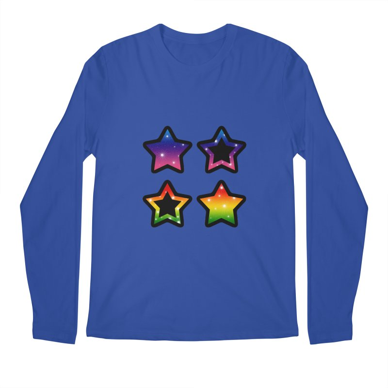 Rainbow Stars Men's Longsleeve T-Shirt by Baubly Apparel