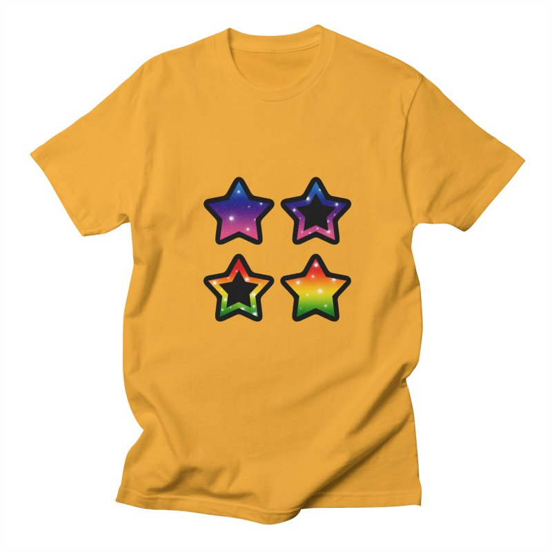 Rainbow Stars Men's T-shirt by Baubly Apparel