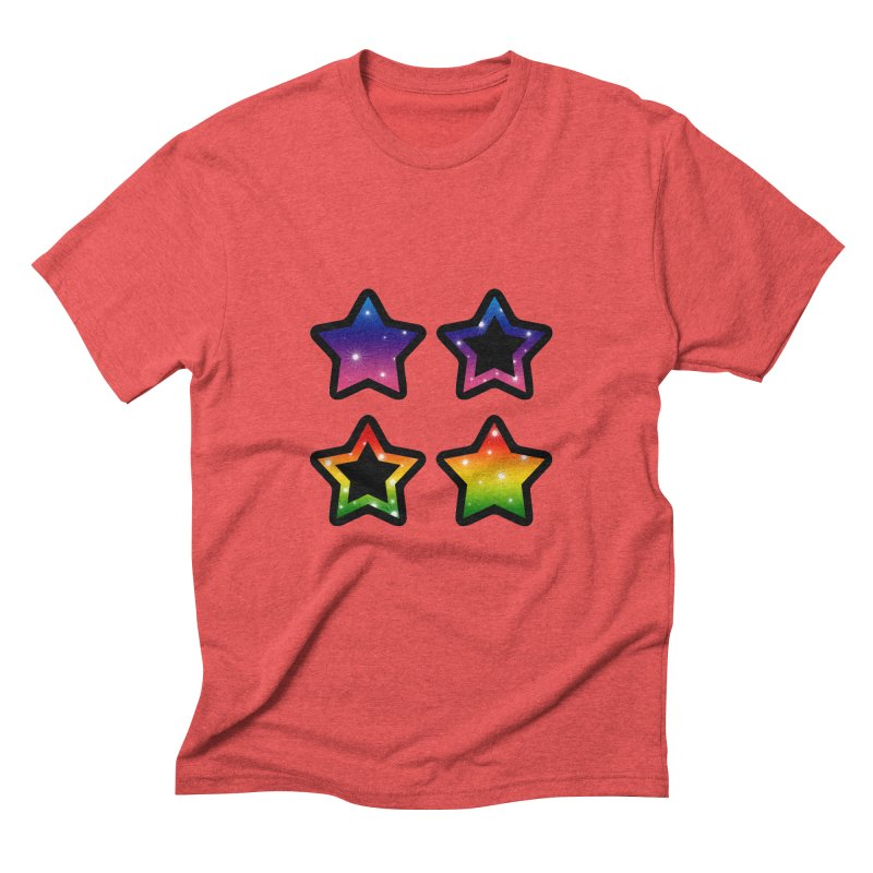 Rainbow Stars Men's Triblend T-Shirt by Baubly Apparel