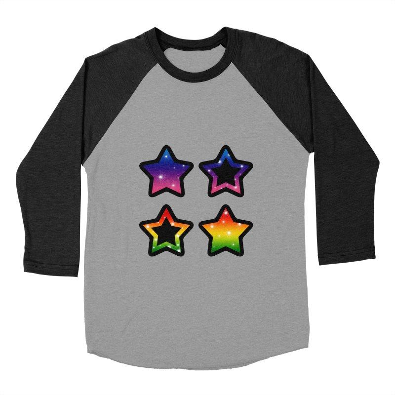 Rainbow Stars Women's Baseball Triblend T-Shirt by Baubly Apparel