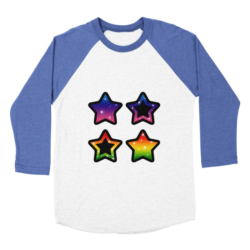 Rainbow Stars Men's Baseball Triblend T-Shirt by Baubly Apparel