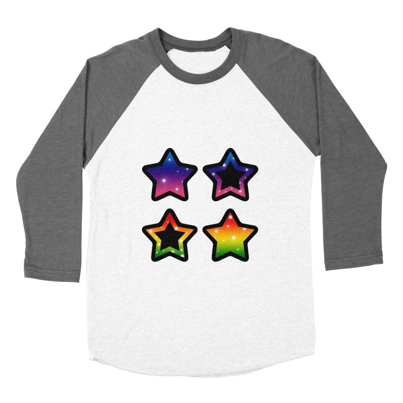 Rainbow Stars Men's Baseball Triblend T-Shirt by Baubly Apparel