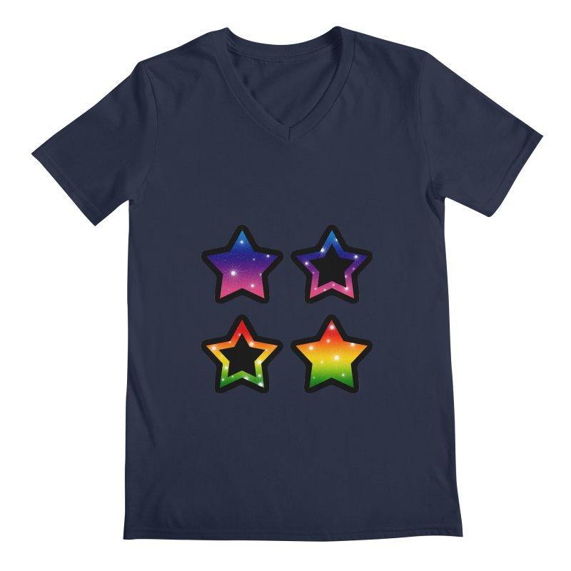 Rainbow Stars Men's V-Neck by Baubly Apparel