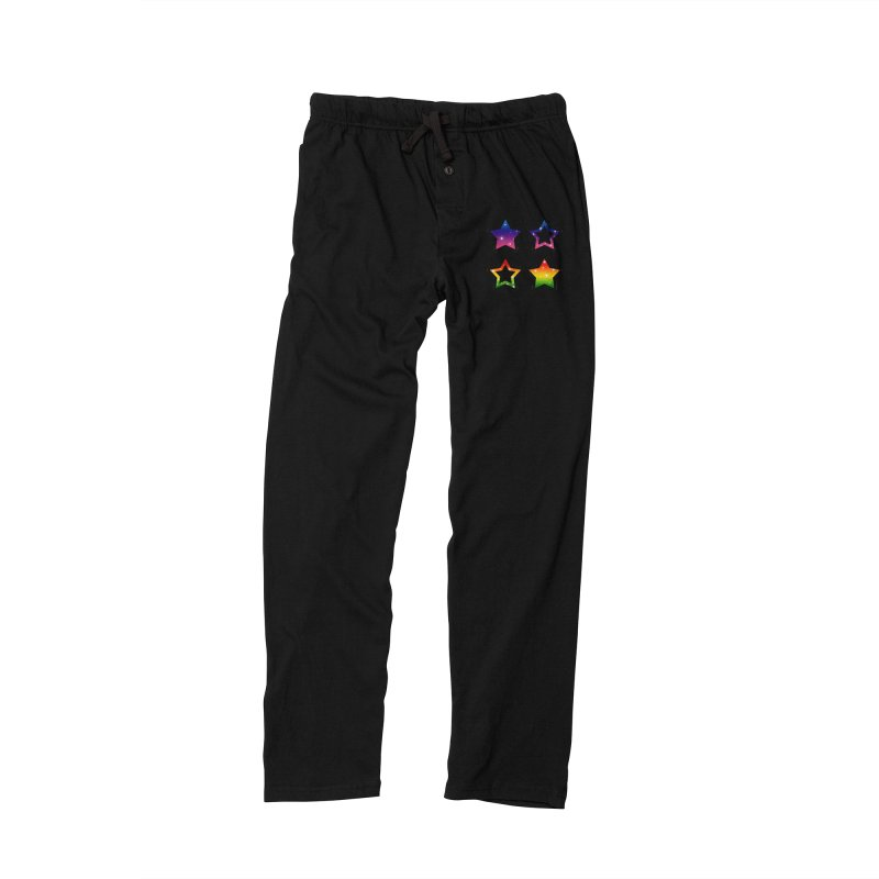 Rainbow Stars Women's Lounge Pants by Baubly Apparel