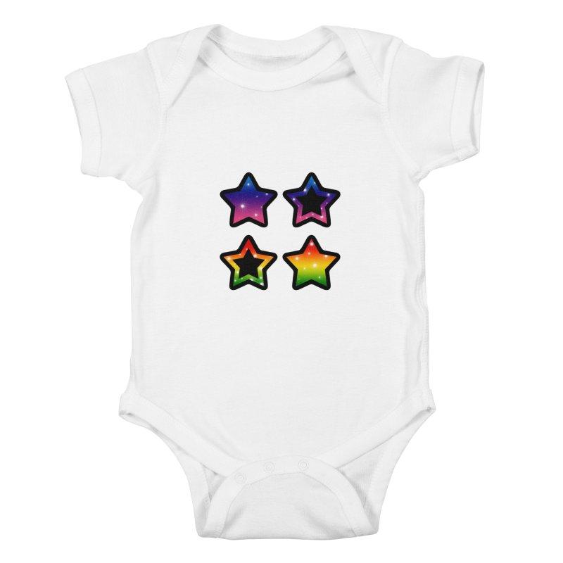 Rainbow Stars Kids Baby Bodysuit by Baubly Apparel