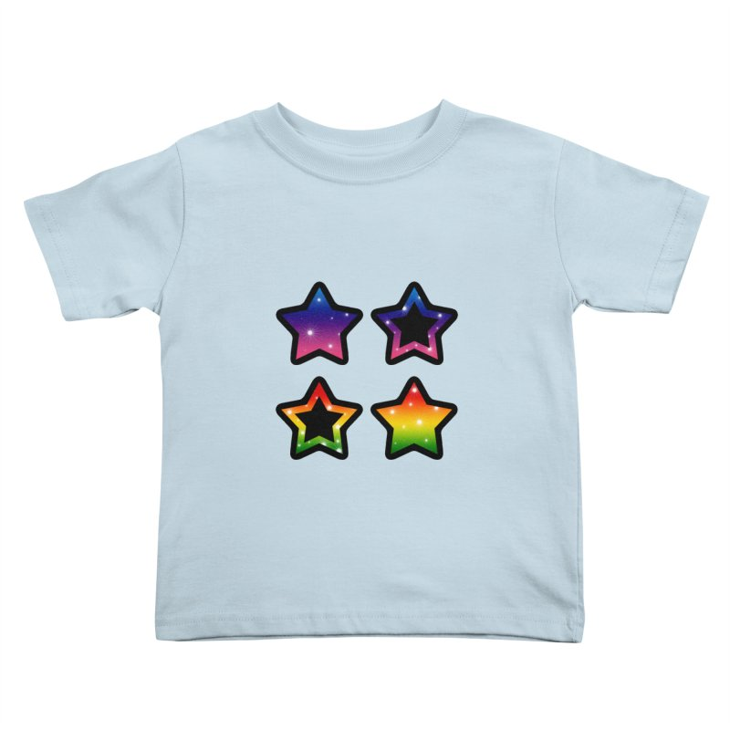 Rainbow Stars Kids Toddler T-Shirt by Baubly Apparel