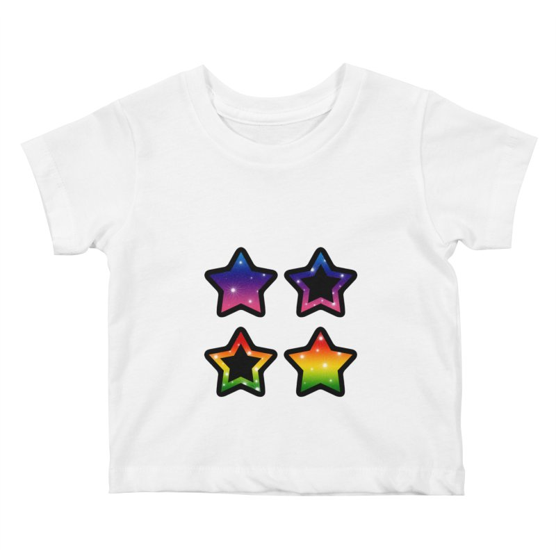 Rainbow Stars Kids Baby T-Shirt by Baubly Apparel