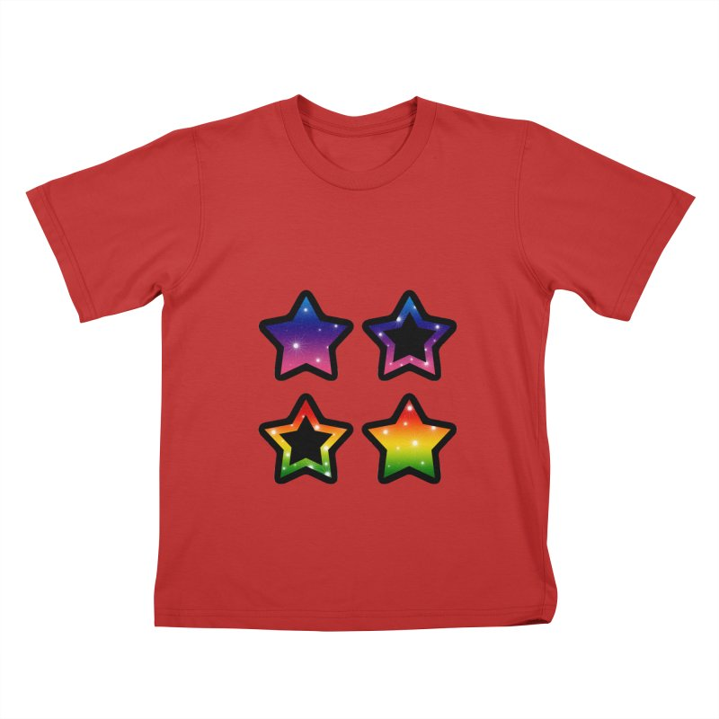 Rainbow Stars Kids T-Shirt by Baubly Apparel