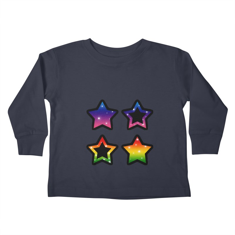 Rainbow Stars Kids Toddler Longsleeve T-Shirt by Baubly Apparel