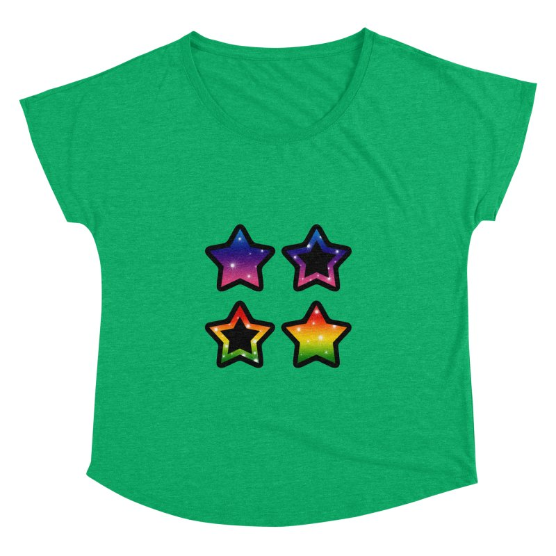 Rainbow Stars Women's Dolman by Baubly Apparel
