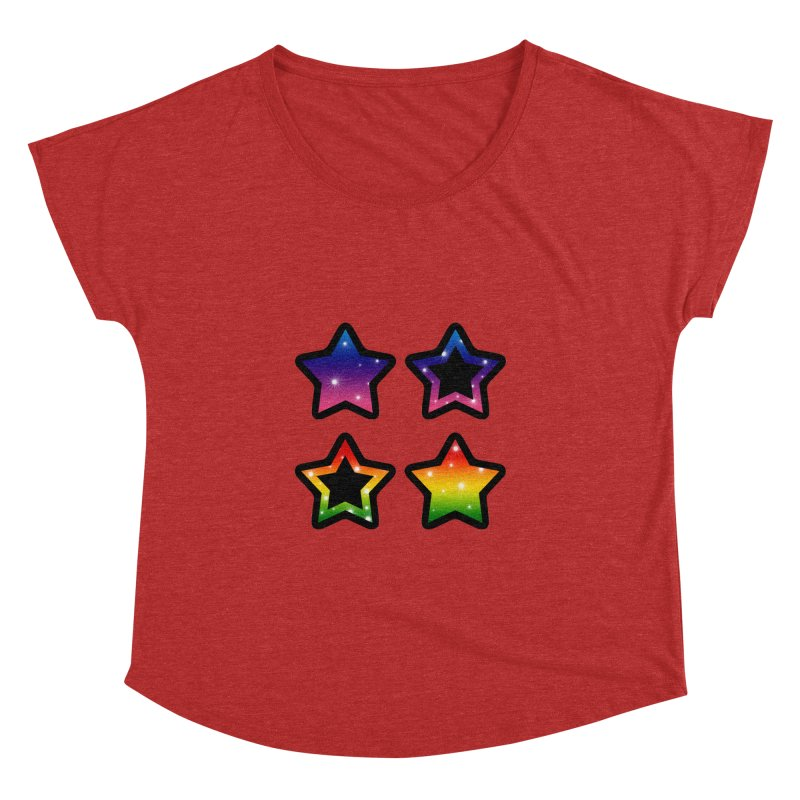 Rainbow Stars Women's Dolman by Baubly Apparel