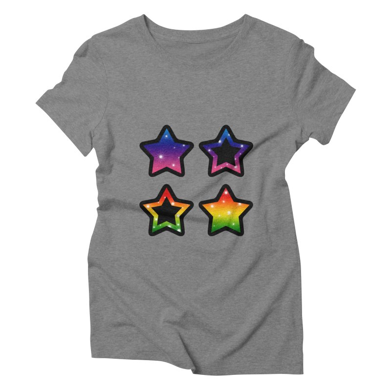 Rainbow Stars Women's Triblend T-shirt by Baubly Apparel