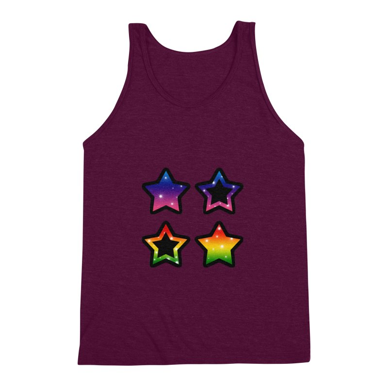 Rainbow Stars Men's Triblend Tank by Baubly Apparel