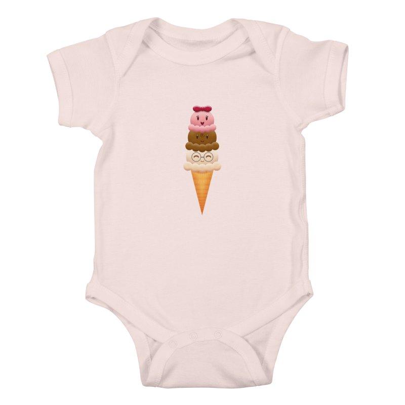Ice Cream Buddies Kids Baby Bodysuit by Baubly Apparel