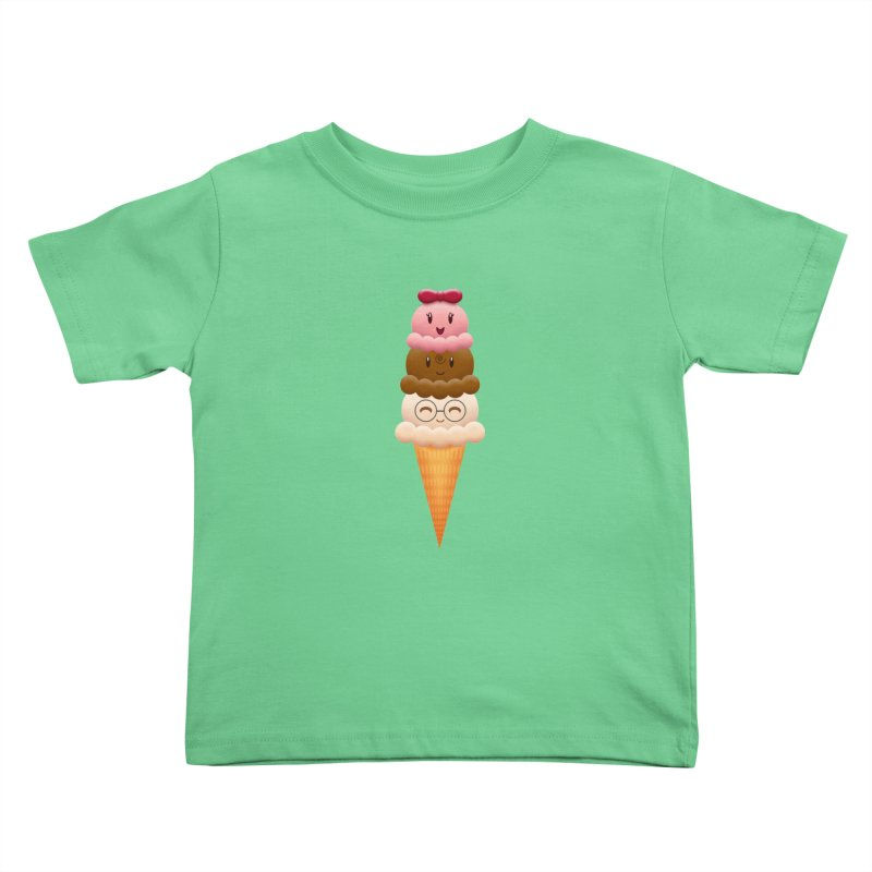 Ice Cream Buddies Kids Toddler T-Shirt by Baubly Apparel