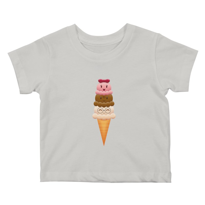 Ice Cream Buddies Kids Baby T-Shirt by Baubly Apparel