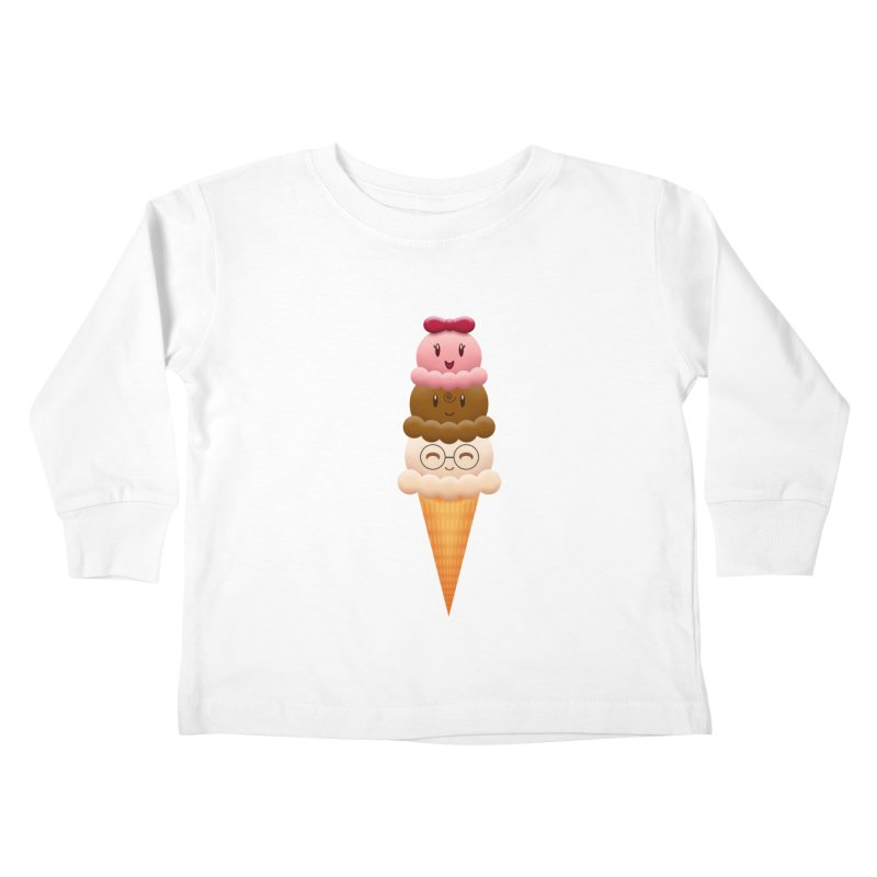 Ice Cream Buddies Kids Toddler Longsleeve T-Shirt by Baubly Apparel