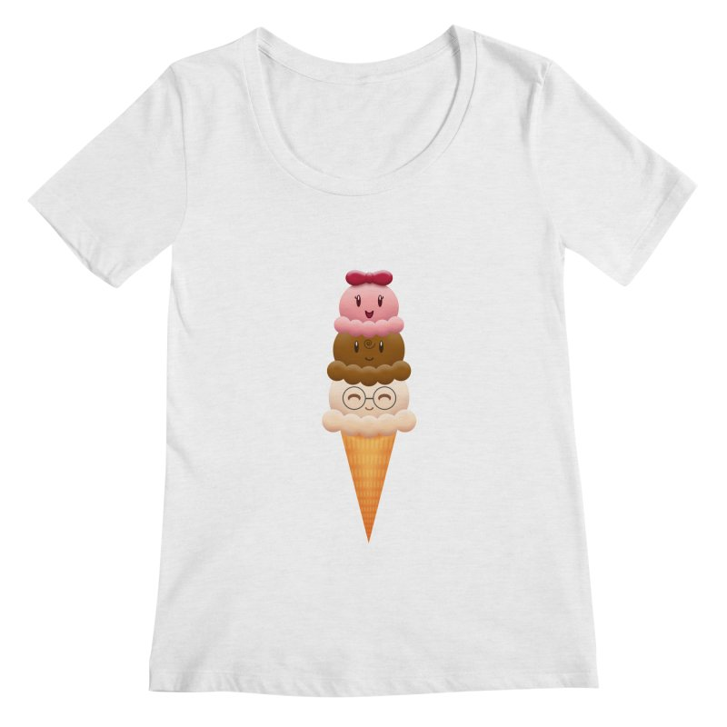 Ice Cream Buddies Women's Scoopneck by Baubly Apparel