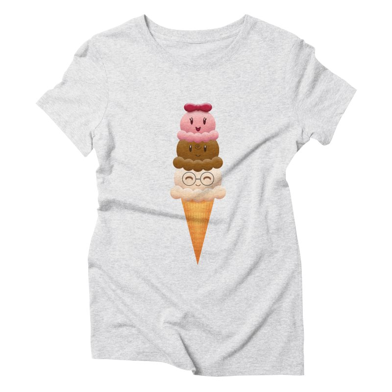 Ice Cream Buddies Women's Triblend T-shirt by Baubly Apparel