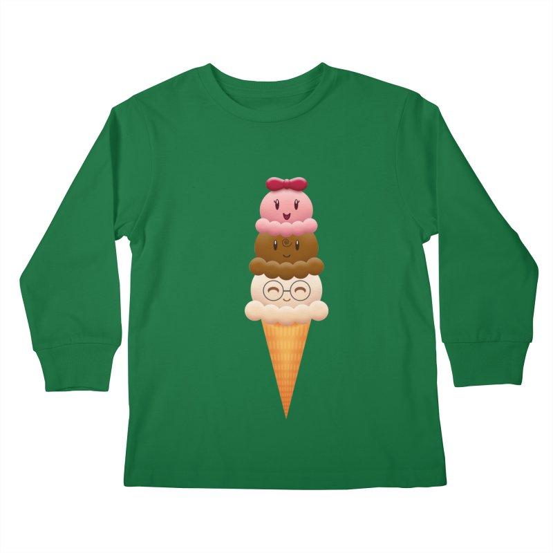 Ice Cream Buddies Kids Longsleeve T-Shirt by Baubly Apparel