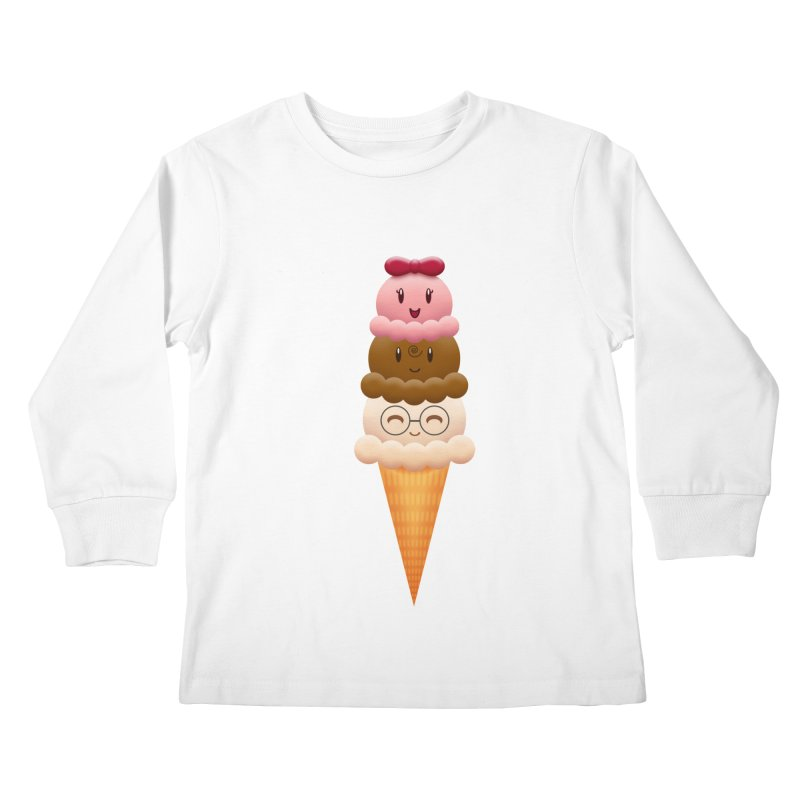 Ice Cream Buddies Kids Longsleeve T-Shirt by Baubly Apparel