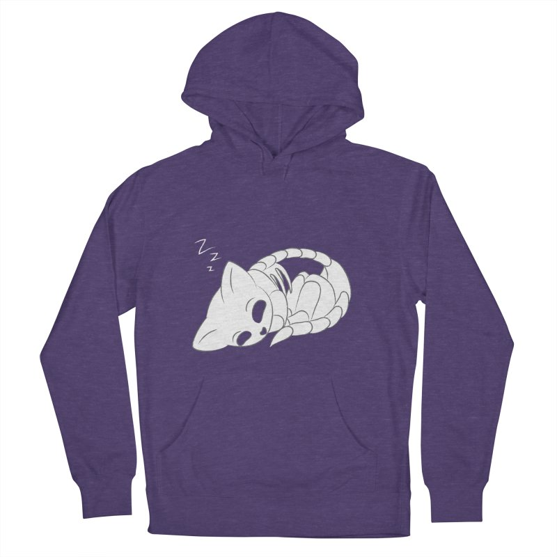 Skeletal Cat Nap Women's Pullover Hoody by Baubly Apparel