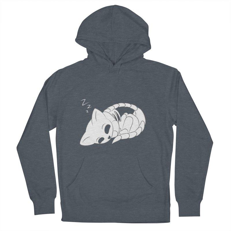 Skeletal Cat Nap Men's Pullover Hoody by Baubly Apparel