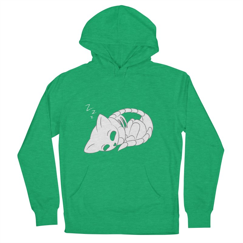 Skeletal Cat Nap Men's Pullover Hoody by Baubly Apparel