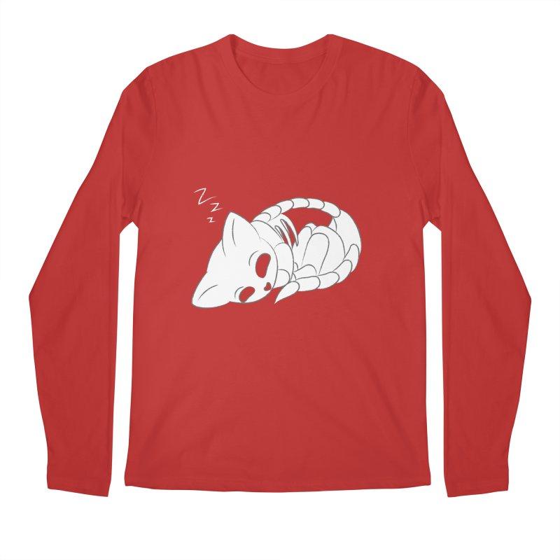 Skeletal Cat Nap Men's Longsleeve T-Shirt by Baubly Apparel