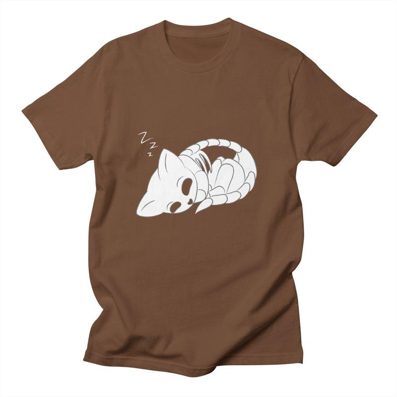 Skeletal Cat Nap Men's T-shirt by Baubly Apparel