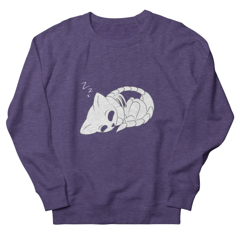 Skeletal Cat Nap Women's Sweatshirt by Baubly Apparel