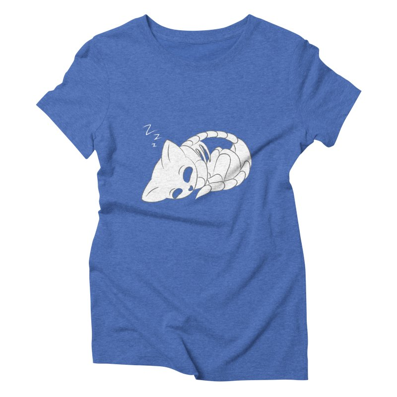 Skeletal Cat Nap Women's Triblend T-shirt by Baubly Apparel