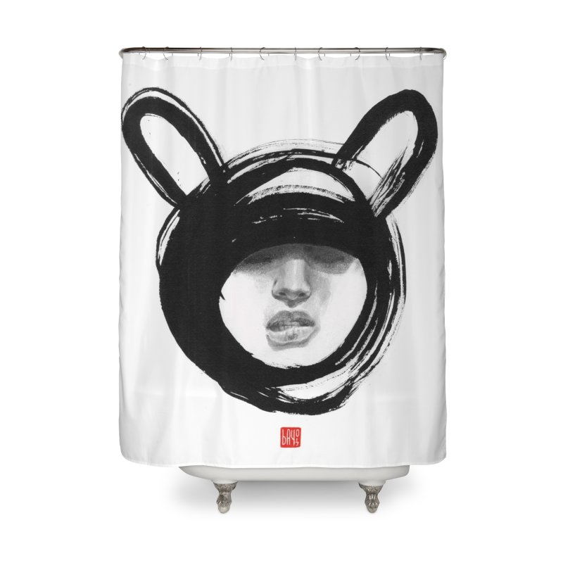 Bunny Home Shower Curtain by fake smile