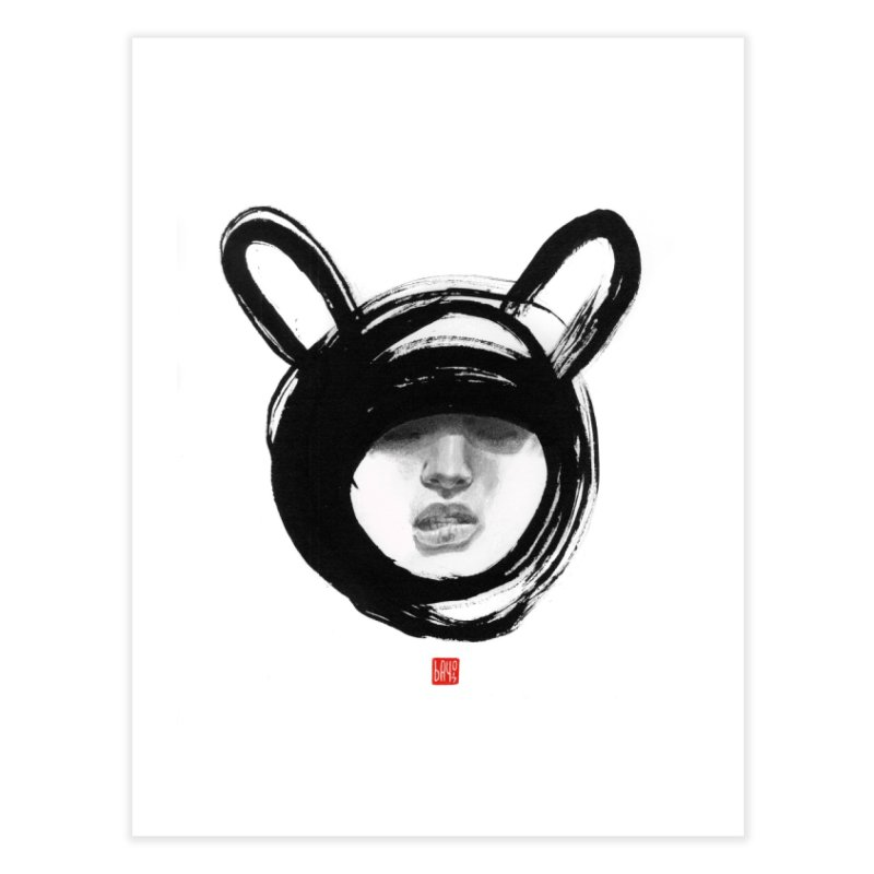 Bunny Home Fine Art Print by fake smile