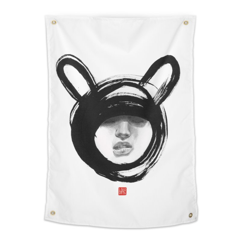Bunny Home Tapestry by fake smile