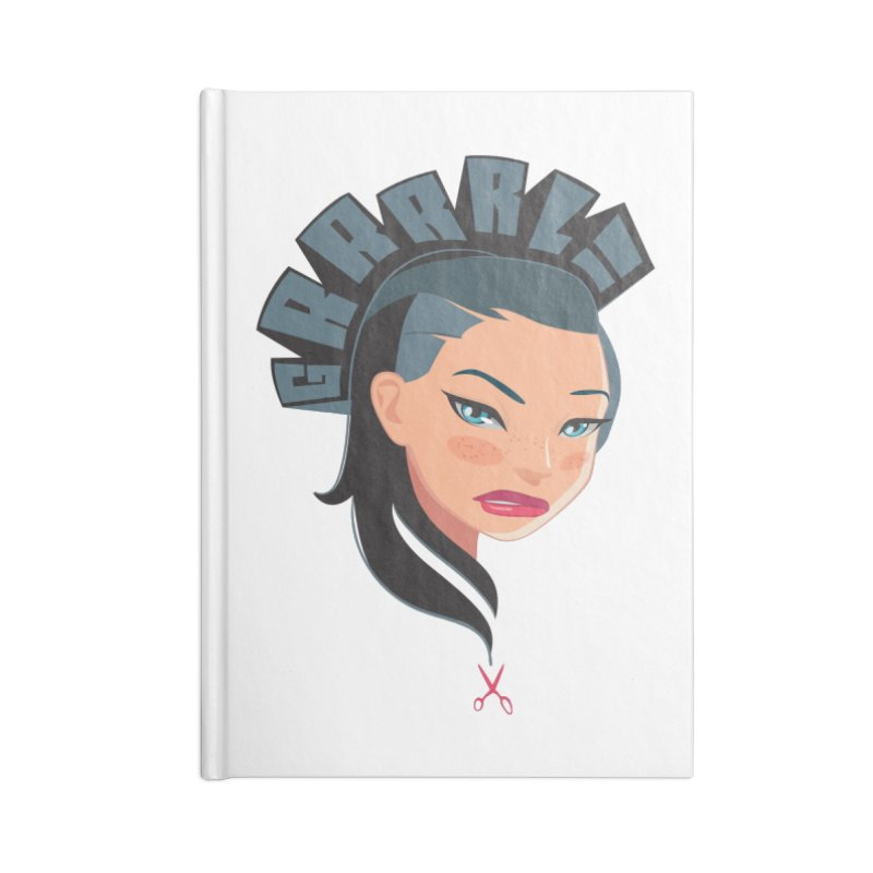 GRRRL! BRUNETTE Accessories Blank Journal Notebook by fake smile