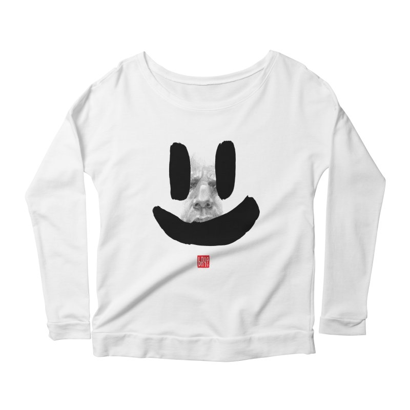 Fake smile Women's Longsleeve Scoopneck  by fake smile