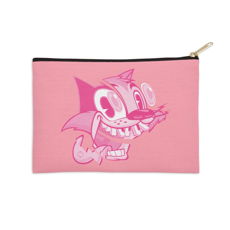 Pink toon number two Accessories Zip Pouch by fake smile