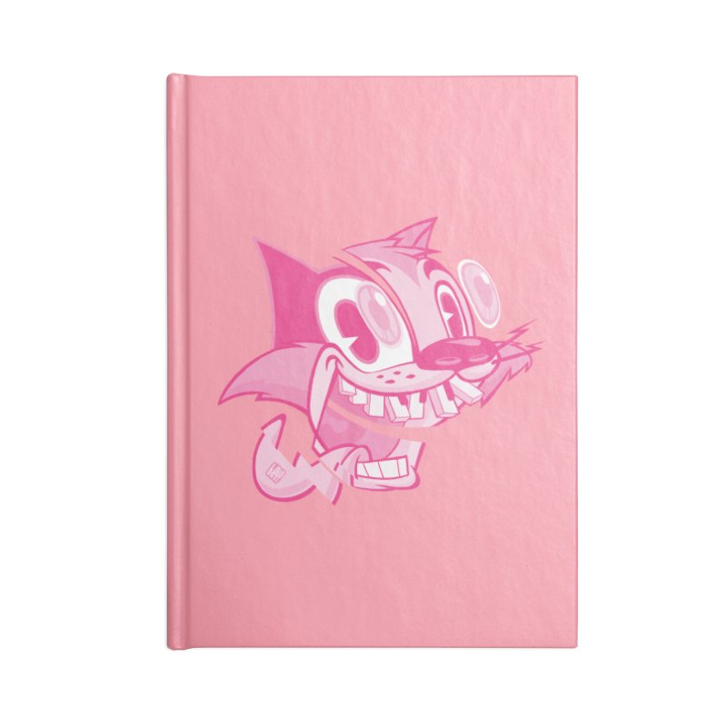 Pink toon number two Accessories Notebook by fake smile