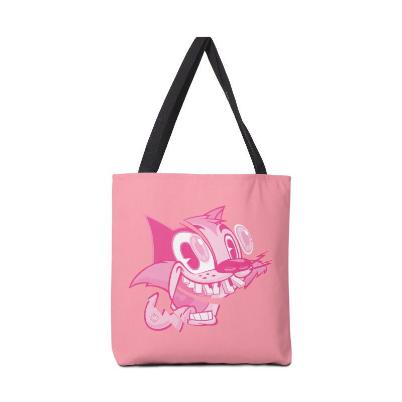 Pink toon number two Accessories Bag by fake smile