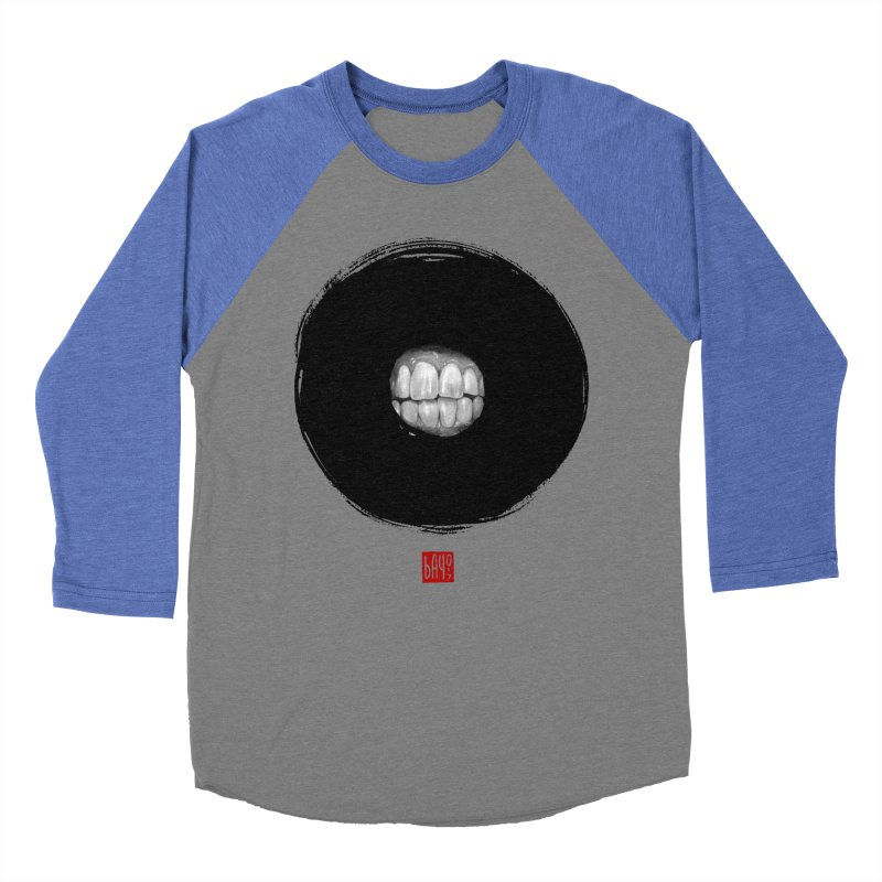 Cheese! Men's Baseball Triblend T-Shirt by fake smile
