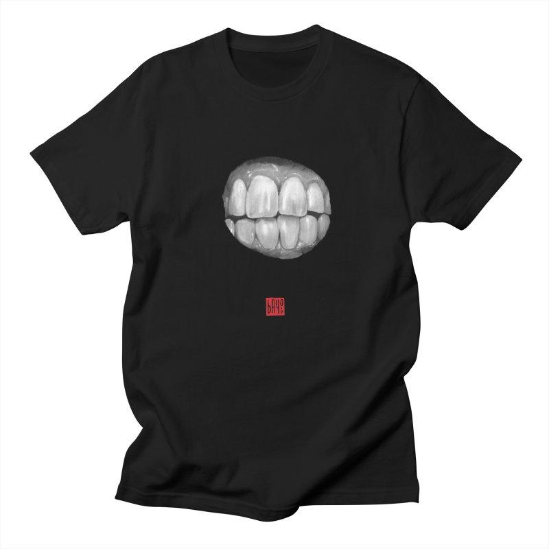 Teeth in Men's Regular T-Shirt Black by fake smile