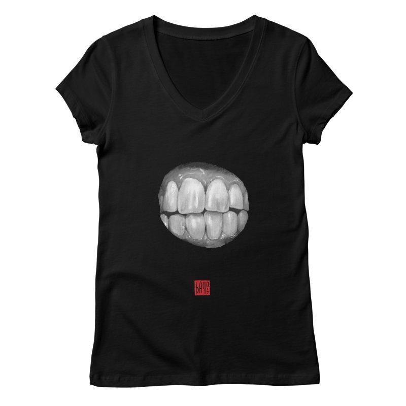 Teeth Women's V-Neck by fake smile