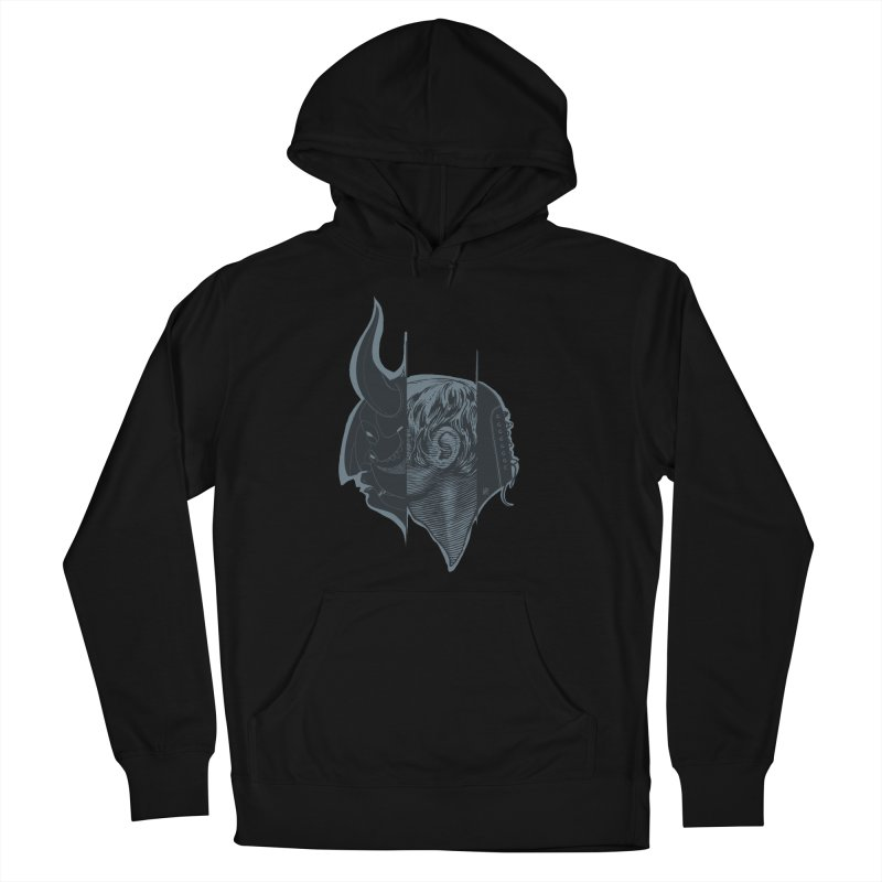 Demon mask / Gray Women's Pullover Hoody by fake smile