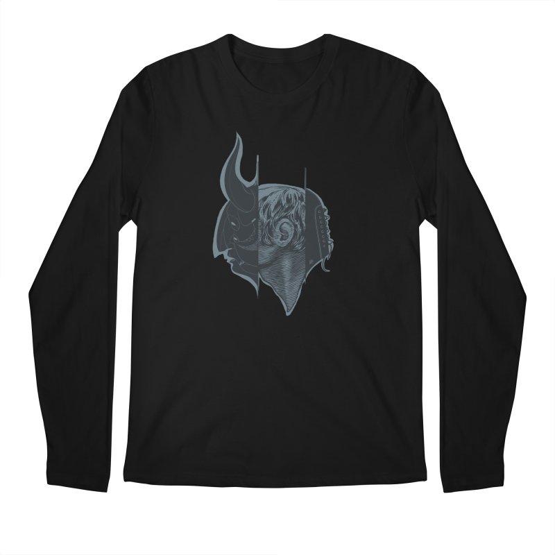 Demon mask / Gray Men's Longsleeve T-Shirt by fake smile